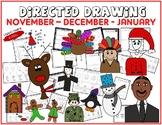 Directed Drawing - November-December-January Themed Bundle