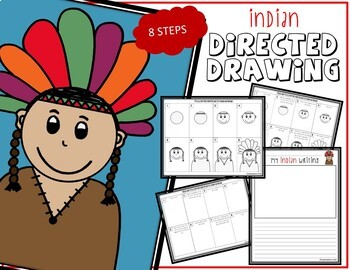 Directed Drawing - November Themed Bundle (turkey, soldier, Indian, Pilgrim)