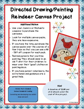 Directed Drawing/Painting Snowman Canvas Project