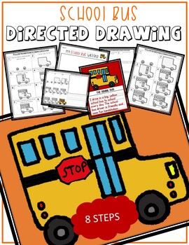 Directed Drawing School Bus By Crazycreations On Tpt Tpt