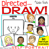 Directed Drawing Self Portrait Template 1st Day of School