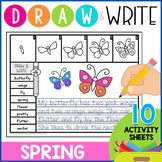 Directed Drawing: Draw & Write Spring Activity Pages K-2