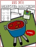 Summer BARBECUE GRILL Directed Drawing & Writing Prompts