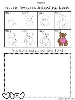 Directed Drawing: Valentine Bear -- K-6