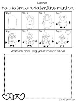 Directed Drawing: Valentine Minion -- K-6