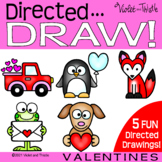 Directed Drawing Valentines Day {How to Draw a Penguin} St