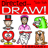 Directed Drawing Valentines Day Kids Learn How to Draw Feb
