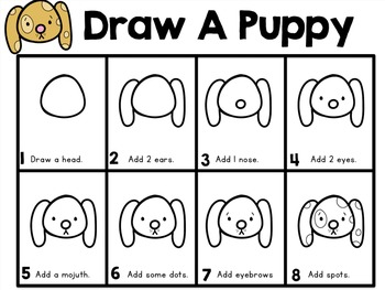 Directed Drawing With Writing Prompts PUPPY FREEBIE- Whimsy Workshop Teaching