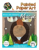 Art Lesson: Directed Drawing: Woodland Wonders - Moose