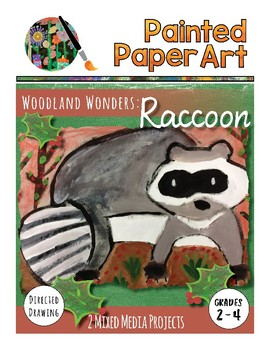 Art Lesson: Directed Drawing: Woodland Wonders - Raccoon