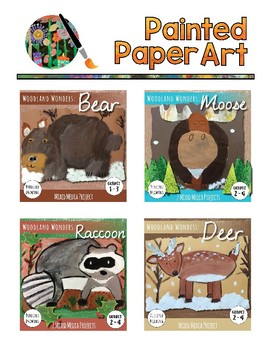 Art Lessons: Directed Drawing: Woodland Wonders - Raccoon, Bear, Deer, Moose