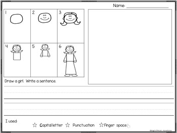Directed Drawing Writing Center FREEBIE