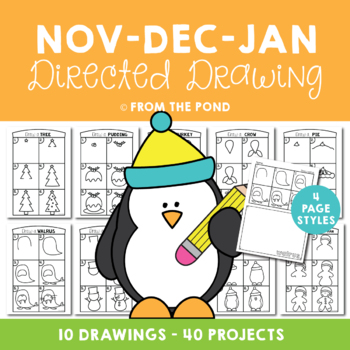 Directed Drawing & Writing Packet - November, December and