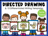 Directed Drawing +Writing Prompts Farm Animals (45 pgs) Wh