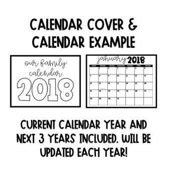 Directed Drawing Year Long Calendar