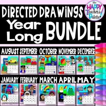 Directed Drawing ~ Year Long GROWING BUNDLE ~
