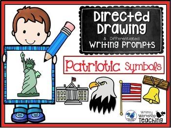 Directed Drawing and Writing - Patriotic Symbols