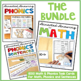 Directed Drawing for MATH PHONICS and SENTENCES BUNDLE (10