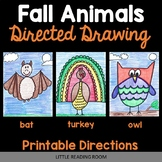 Directed Drawings - 3 Fall Animals - Turkey, Bat, Owl