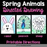 Directed Drawings - 3 Spring Animals - Bunny Rabbit, Sheep, Peacock