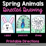 Directed Drawings - 3 Spring Animals - Bunny Rabbit, Sheep