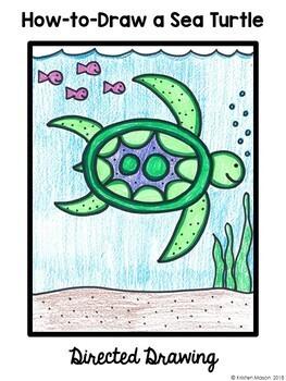 Directed Drawings - 3 Summer Animals - Sea Turtle, Shark, Crab