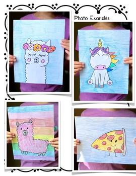 Directed Drawings Kawaii Style from Alpaca to Unicorn