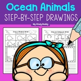 Directed Drawings: Ocean Animals with Writing Option (Ocea