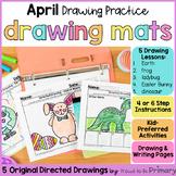 Spring Directed Drawings   April    Easter bunny, earth, frog, ladybug, dinosaur