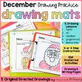 Christmas Directed Drawings | santa, reindeer, elf, tree, gingerbread man