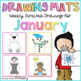Winter Directed Drawings for January   snowman, snowflake,