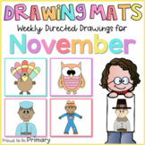 Fall Directed Drawings for November   owl, Turkey, scarecr