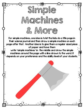 Directed Drawings for Simple Machines