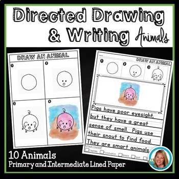 Directed Drawings with Writing ANIMALS