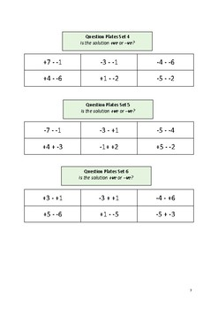 Directed Number: Addition and Subtraction