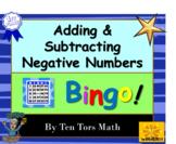 Integers | Adding & Subtracting directed negative numbers Bingo Game