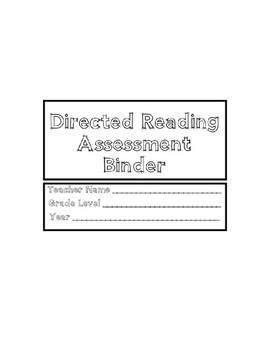 Directed Reading Assessment Binder Pages (DRA)