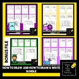 Directed drawing how to draw & write printable pages.  -Distance Learning- Set A