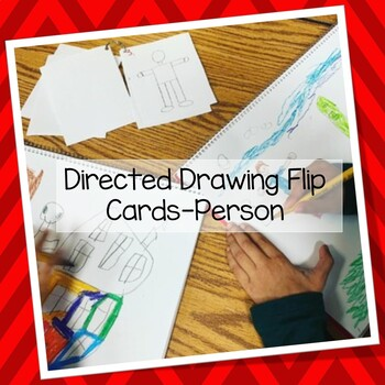 Directed drawing flip cards person- Hand drawn