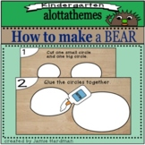 Directed drawing how to make a bear craft