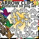 Direction Arrows Coloring Clip Art Set Commercial and Personal Use