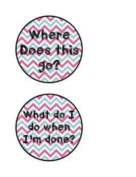 Direction Buttons - Blue and Pink Chevron