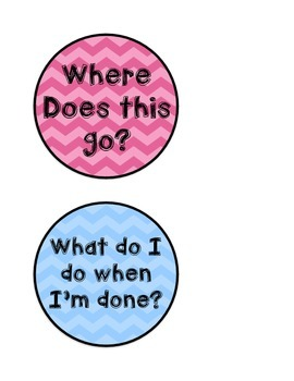 Direction Buttons - Ice Cream Chevron - Boys and Girls