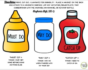 Direction Cards - Must Do, May Do, and Catch Up