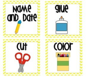 Direction Cards Yellow Chevron