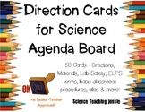 Direction Cards for Science Agenda Board (PDF & JPG)