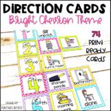 Visual Direction Cards EDITABLE Bright Chevron