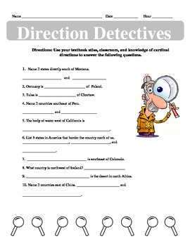 Direction Detective: Cardinal and Intermediate Direction Practice
