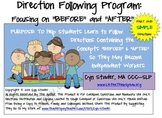 """SIMPLE Direction Following Program: Focusing on """"Before"""" a"""