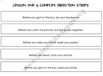 """COMPLEX Direction Following Program: Focusing on """"Before"""" and """"After"""" Part Two"""